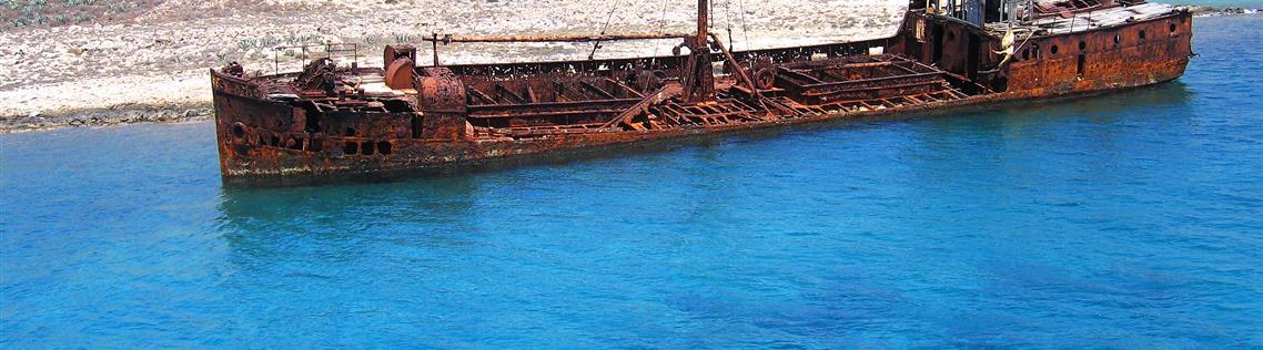 GRAMVOUSA'S SHIPWRECK